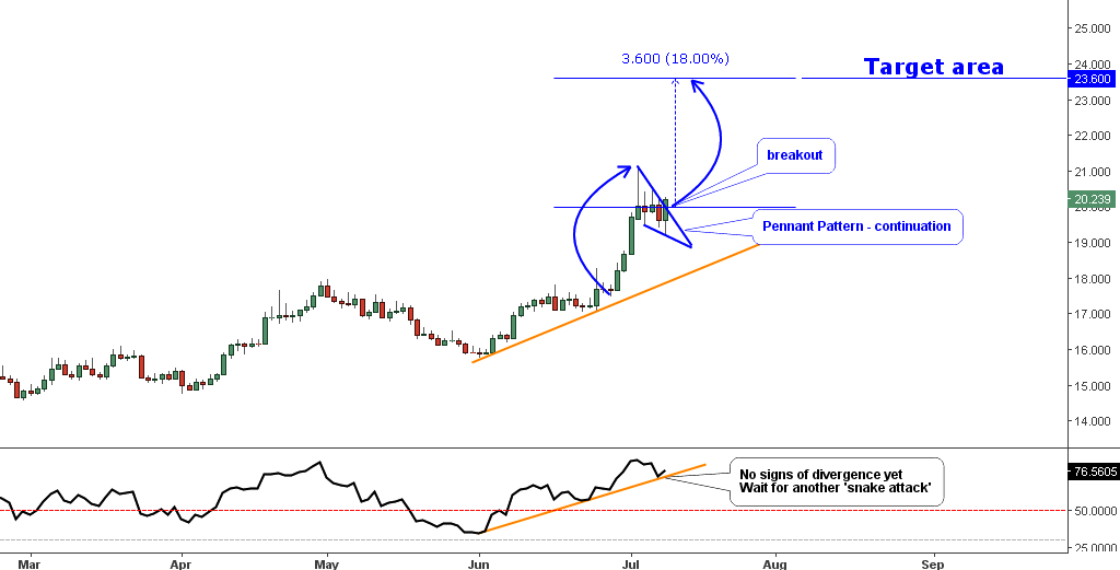 Daily Chart of Silver
