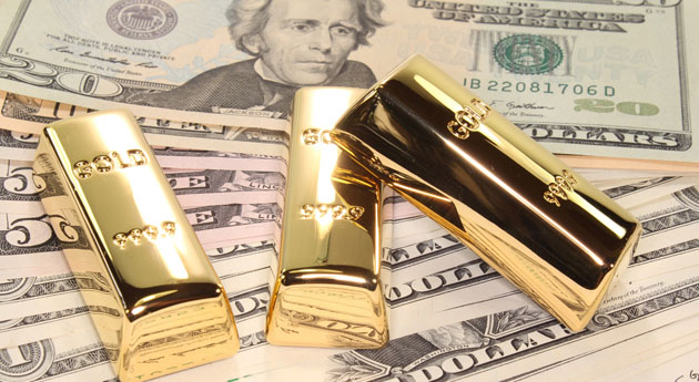 Cash and Gold Bars