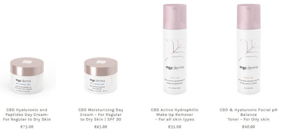 MGC's dermatological skin care products