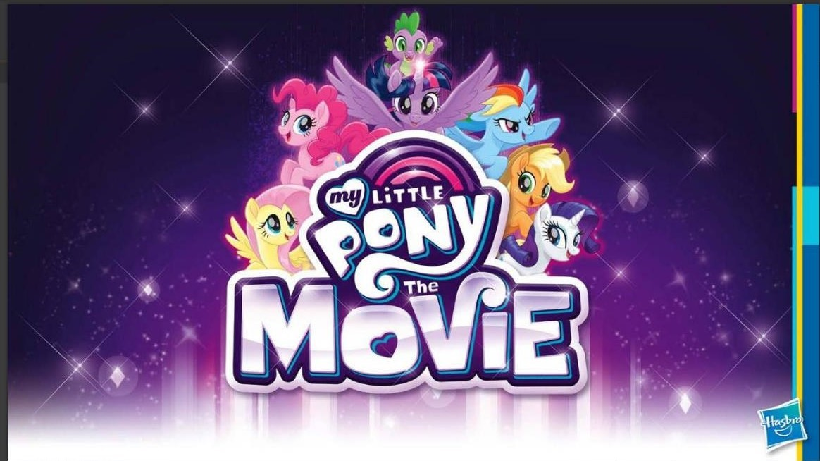 My Little Pony: The Movie poster, Hasbro's first movie release